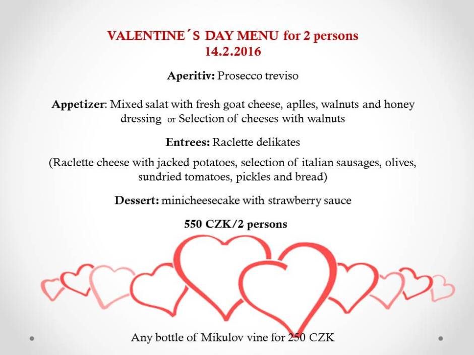 Valentine´s day menu